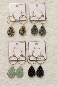 Keep You In Mind Seed Bead Circle and Teardrop Earring In Multiple Colors
