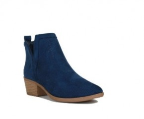 My Time To Shine Navy Booties With Side V Detail- Sizes 5.5-10