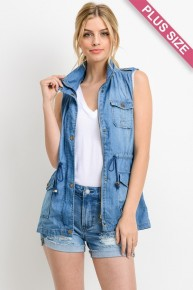You're Perfect Denim Vest - Multiple Colors - Sizes 12-20