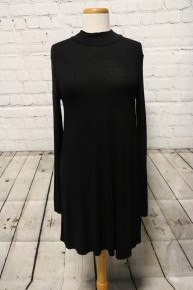 Heart Like David Long Sleeve Black Dress - Size Medium