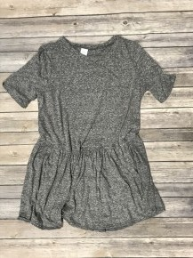 Simple & Sweet Babydoll Top in Gray - Sizes 4-10