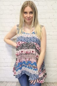 Floral Days Tank With Ruffle In Multiple Colors- Sizes 4-10