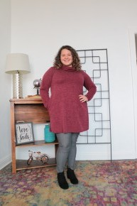 Step Into The Future Cowl Neck Knit Dress In Wine - Sizes 12-20