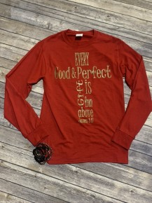 Every Good and Perfect Gift Graphic Tee - December - Sizes 4-20 *Final Sale*