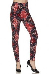 This Time Around Multi Print Full Length Leggings