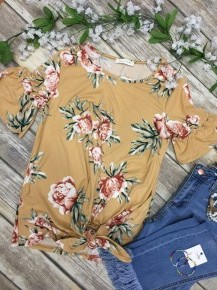Say A Little Prayer Floral Top in Yellow - Sizes 4-10