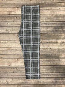 Think of Me Black with Blue Houndstooth Capri Legging- Sizes 4-20