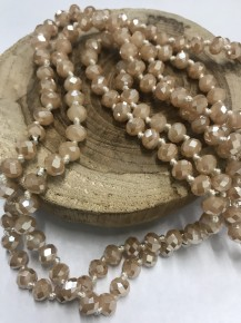 Point of Perfection Beaded Necklace in Caramel