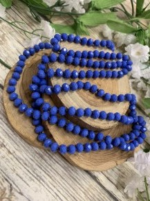 Point Of Perfection Beaded Necklace In Cobalt Blue