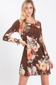 Worry About Nothing Brown Floral Dress Sizes 4-10