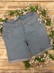 The Jessica Cuffed Light Denim Shorts - Sizes 12-20