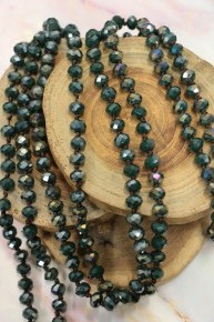 Point Of Perfection Beaded Necklace In Jungle