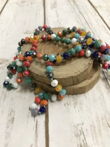 Point Of Perfection Beaded Necklace In Trix