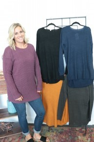 Wonderful Life Waffle Knit Sweater- Sizes 12-20