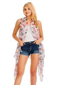 Relentlessly Adorable Polka Dot Kimono Vest in Multiple Colors - One Size Fits Most