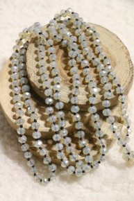 Point Of Perfection Beaded Necklace in Clear Opal