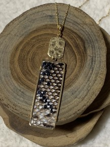Another Night Down Rectangle Necklace In Multiple Prints