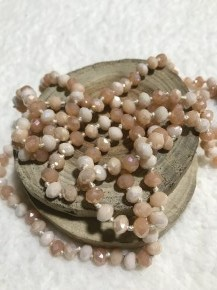 Point Of Perfection Beaded Necklace In Sandy Hues