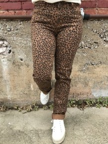 Something to Remember Leopard Boyfriend Pant Sizes 4-22