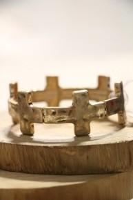 Inspire Cross Stretch Bracelet In Multiple Colors
