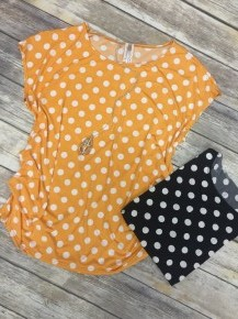Just One More Day Polka Dot Top In Multiple Colors- Sizes 12-20