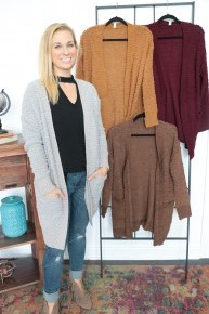 By The Campfire Cozy Popcorn Cardigan - Multiple Colors - Sizes 4-12