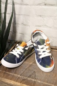 Let's Go Tie Dye Slip On Tennis Shoes