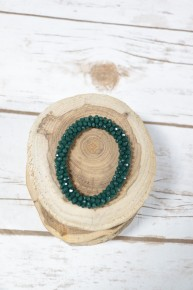 Perfect Stretch Hunter Green Sparkle Beaded Bracelet