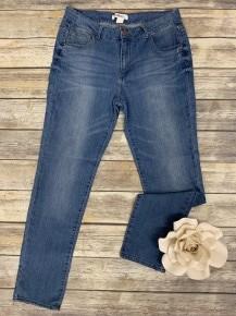 The Kinsley Super Duper Stretchy Skinny Jeans In Light Denim - Sizes 12-20