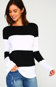 Take the Lead Black and White Stripe Shirt