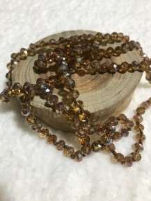 Point Of Perfection Beaded Necklace In Topaz