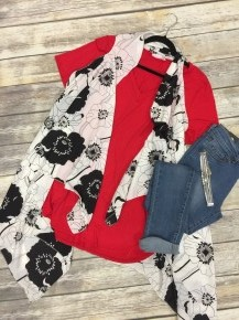 Floral Everything Vest Kimono In White - One Size 4-20