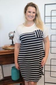 Weekend Goals Striped Pocket Dress - Sizes 12-20