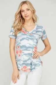 My Whole World Camo & Floral Top - Sizes 4-10