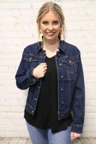 Don't Go Away Judy Blue Dark Denim Jacket - Sizes 4-10