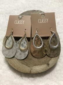 Into You Hammered Teardrop Earrings In Multiple Colors