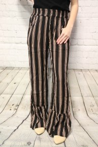 So It Begins Striped Flare Pants In Multiple Colors Sizes 4-10