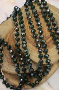Point Of Perfection Beaded Necklace In Deep Forrest
