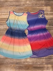 I'm Gonna Miss Her Tie-Dye Babydoll Tank Dress - Sizes 12-20 - Multiple Colors