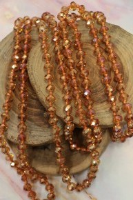 Point Of Perfection Beaded Necklace In Peachy Keen