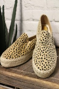 Strikingly Beautiful Leopard Ponyhair Espadrille Slip-Ons - Sizes
