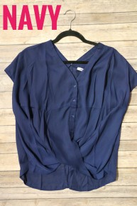 Be My Mirror Button Down Surplice TopIn Multiple Colors- Sizes 4-20 *Final Sale*