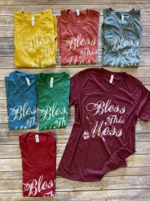 Bless This Mess Graphic Tee in Multiple Colors