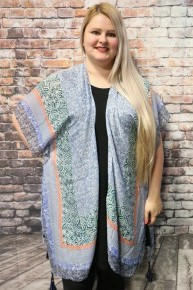 Make It Yours Patterned Kimono With Tassels In Multiple Colors
