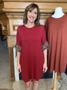 Secret Joys Leopard Accented Dress in Multiple Colors - Sizes 4-20