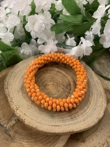 Perfect Stretch Pumpkin Sparkle Beaded Bracelet