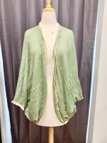 Mama Told Me Short Knit Kimono with Tassels ~ One Size Fits Most 4-20