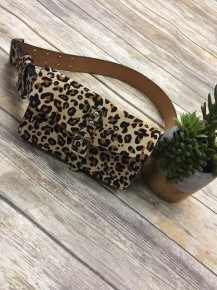 The Rest Of My Life Leopard Adjustable Fanny Pack - One Size