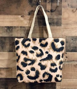 Around Town Leopard Canvas Tote Bag