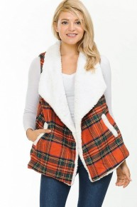 Back To Ya Sherpa Lined Lapel Vest - Multiple Colors - One Size